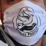 Maske Stiller Protest weiss